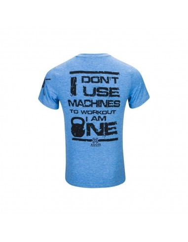CAMISETA DONT USE MACHINES AZUL