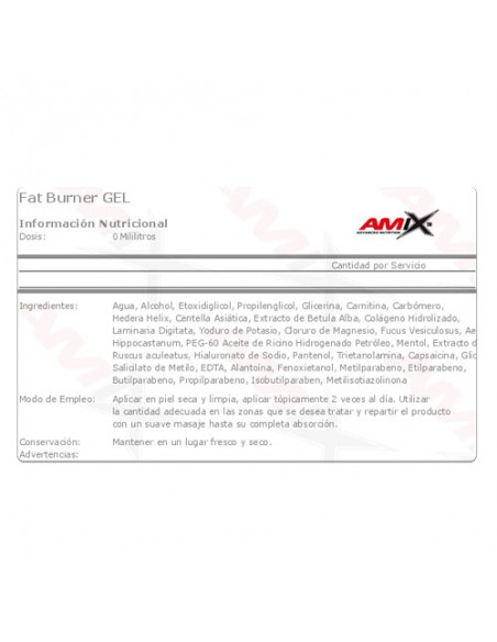 Fat Burner Gel - 200 Ml_tabla