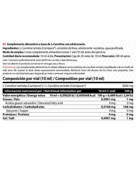 L-Carnitine 3000 - 20 Viales 10Ml_tabla
