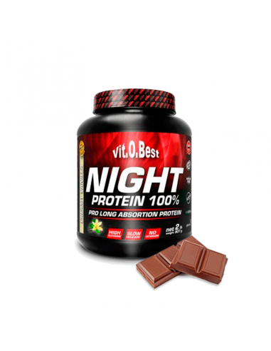 NIGHT PROTEIN 100%  2 Lb - CHOCOLATE -TiendaFitMarket.com